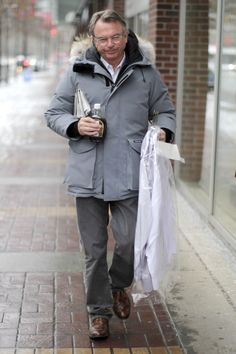Sam+Neill+Can+t+Resist+Canadian+Maple+Syrup great Sam Neill, Canadian Maple, Famous Men, Celebs, Celebrities, Maple Syrup, Rain Jacket, Windbreaker, Actors