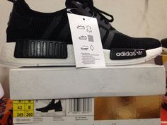 Adidas NMD R1 Black White Runners Mens and Womens