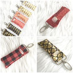Our chapstick keychains are double stitched to ensure durability and can clip on any purse, backpack or keychain. Never lose your chapstick again!