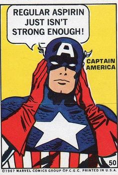 Super Hero Sticker - Captain America #50, 1967