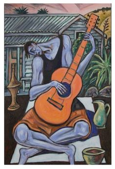 'Guitarist's Shed' (oil on linen) by Nigel Brown