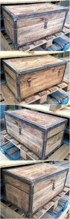 Ted's Woodworking Plans - reclaimed pallet little chest Get A Lifetime Of Project Ideas & Inspiration! Step By Step Woodworking Plans Wooden Pallet Projects, Wooden Pallet Furniture, Pallet Crafts, Woodworking Projects Diy, Wooden Pallets, Teds Woodworking, Diy Projects, Welding Projects, Welding Ideas