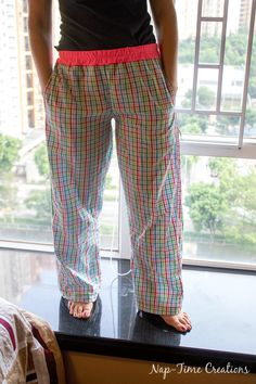Cute + comfy pj lounge pants with pockets ~ free pattern + tutorial