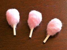 """Poppenhuis accessoire roze Cotton Candy voedsel 1"""" schaal 1:12 miniatuur Fairy tuin"""