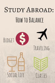 Study Abroad: How to Balance Budget, Traveling, Social Life, and Classes. #Abroad #Studyabroad #travel #budget #classes