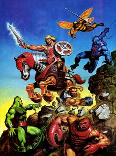 Earl Norem (April was an amazing artist and a master illustrator. His legendary artwork was featured in a variety of comics and magazines, including the He-Man and the Masters of the Universe Magazine. Cartoon Toys, Cartoon Posters, Cartoon Characters, Thundercats, Cultura Pop, Robert E Howard, Gi Joe, Morning Cartoon, She Ra Princess Of Power