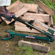 Firewood splitter-foot operated log splitter-manual wood splitter - it works - you just takes a little time to figure out how to use it!
