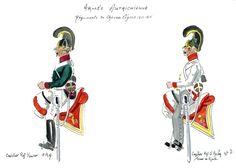 Austria; ChevauLegers, 1st Regt Kaiser, trooper & 3rd Regt. O'Reilly Trooper 1812-15
