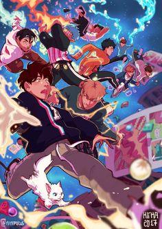 Exo Anime, Anime Art, K Pop, Baekhyun, Exo Fan Art, Exo Lockscreen, Kpop Drawings, Kpop Fanart, Cute Wallpapers