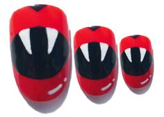 Cute Vampire nails, plus two other designs