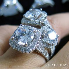 When one ring is not enough! http://www.smythjewelers.com/engagement-wedding.html #SCOTTKAY