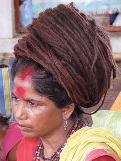 sadhvi with matted hair
