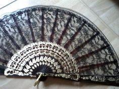 Vintage Spanish hand held fan