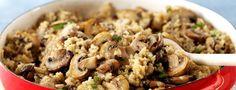 Cette recette végétarienne très simple et très rapide est idéale pour un soir de la semaine : quinoa, champignons, thym, de quoi plaire à tout le monde.