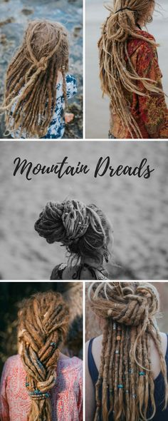 Dreadlock Hairstyles | Dread Beads | Natural Dread Care | Dreadlock Accessories mountaindreads.com #dreadstyles #dreadbeads #dreadcare #dreadlocks #dreads #gilwithdreads #dreadlockhairstyles Read our Story + Blog