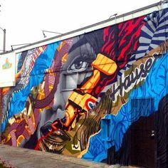 Street-wall graphic art - L'arte grafica sui muri.  Street art come forma d'arte e di comunicazione visiva. Avete letto il nostro articolo?  http://www.diellegrafica.it/spazio-grafica/street-art-murales/street-art-come-forma-di-arte-e-di-comunicazione-visiva