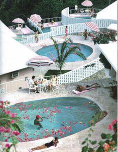La Concha #Beach Club in #Acapulco, #1968, by Slim Aarons.