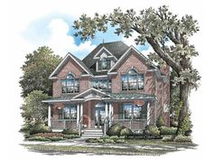 Eplans House Plan: Although it fits onto a narrow lot, this plan features large living spaces and luxurious amenities. The first floor is…