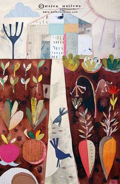 Up the Garden Path Limited Edition Giclee Print by Helen Hallows = LOVE!