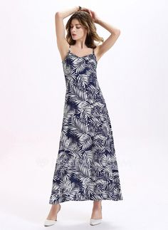 Chiffon With Print Maxi Dress (199086881)