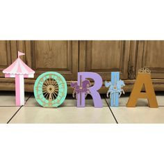 Circus Birthday Party, Carnival Party, Circus Letters, Carnival Birthday Party (price is per letter) Carousel Themed Birthday, Carousel Party, Circus Birthday, 1st Birthday Girls, Carnival Birthday Parties, Unicorn Birthday Parties, Birthday Party Decorations, First Birthday Parties, Festival Themed Party