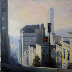 Stop! San Francisco  by irenebutcher  oil on canvas inspired by my visit to this great city.
