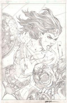 Sensation Comics featuring Wonder Woman 03 cover pencils - Ivan Reis Comic Art