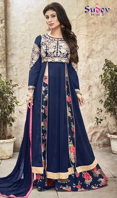 Dazzling Blue Color Long Anarkali Salwar Suit #salwarsuit #anarkalisalwarsuit #lomganarkalisuit #floralanarkali #onlinesalwarsuit #partywearsuit #latestsuit #dressesdesign #offer #womenclothing #clothing #indiansalwarsuit #onlinesalwarsuit