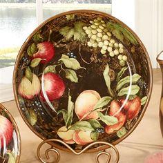 Capri Fruit Large Serving Bowl Multi Earth