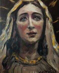 Mama Mary, Catholic Art, Sacred Art, Our Lady, Painting, Paintings, Christian Art, Painting Art, Painted Canvas