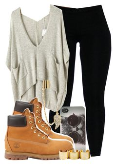A fashion look from July 2013 featuring legging pants, timberland boots and gold stackable rings. Browse and shop related looks. Timberland Outfits, Tims Outfits, Dope Outfits, Casual Outfits, Timberland Heels, Timberland Fashion, Fall Winter Outfits, Autumn Winter Fashion, Summer Outfits