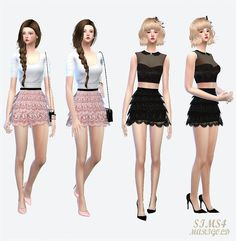 Sims 4 CC's - The Best: Lace Tiered Skirt by Sims 4 Marigold