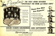 Ad for Rogers drum corps snare drum