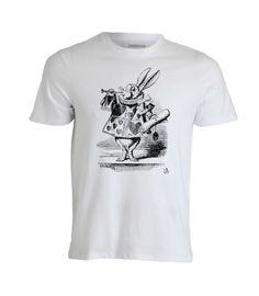 Lewis Carroll, Las aventuras de Alicia en el país de las maravillas. El Conejo Blanco vestido de heraldo, ilustación de sir John Tenniel.