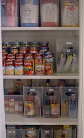 How to organize pantry. With links to buy those awesome containers for cheap!