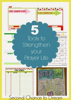 Second Chance to Dream: 5 Tools to help you strengthen your prayer life + Free Printables #prayer #freeprintables