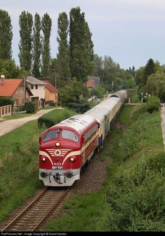 Net Photo: 001 Hungarian State Railways (MÁV) at Balatonalmádi, Hungary by David Sandor Train Journey, Diesel Locomotive, Hungary, Planes, Ships, The Unit, Beauty, Trains, World