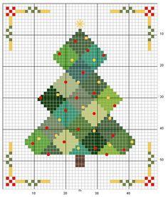 Cross stitch-Quilt tree