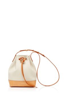 Mini Canvas Bucket Bag In Creme With Creme Interior by Mansur Gavriel for Preorder on Moda Operandi