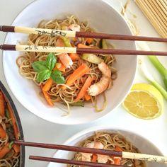 nouilles sautées aux crevettes 20 Min, Dim Sum, Sashimi, Tex Mex, Wok, Tapas, Curry, Food And Drink, Pasta