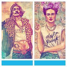 Pop Culture And Fashion Magic: Illustration spotlight – Fab Ciraolo Hipster Art, Photo Art, Pop Culture, Cool Art, Princess Zelda, Fan Art, Gallery, Artist, Artwork