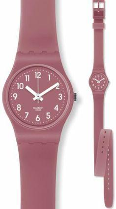 Swatch Women's LR122C Red Silicone Swiss Quartz Watch with Red Dial Swatch. $42.50. Swiss Quartz Movement. 26mm Case Diameter. Plastic Crystal. 30 Meters / 100 Feet / 3 ATM Water Resistant