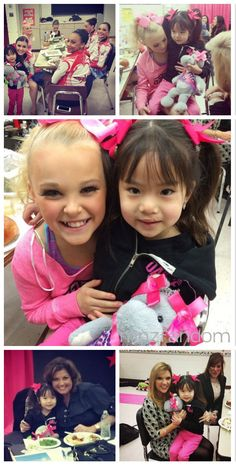 [S5E11] This is Maya, a little girl who's been having a lot of health problems lately which involved surgery. Jojo Siwa knew she was coming to competition today so she arranged with Abby Lee Miller to have her come into the dressing room to meet the girls.