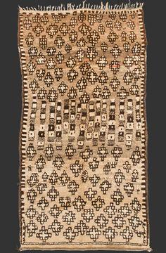 TM 725, unusual + rare grey Zenaga pile rug, Jebel Siroua region, southern Morocco, 1940s, 270 x 140 cm (9' x 4' 8''), p.o.a.