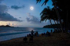 Total solar eclipse seen from Ellis Beach north of Cairns, Queensland, Australia today [960x638]