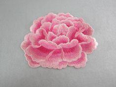 Rosa flores apliques bordado flor parches