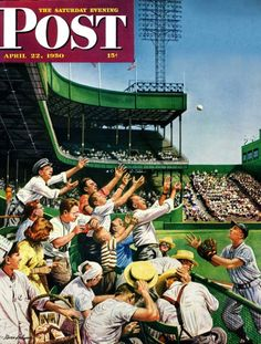 Catching Home Run Ball (Stevan Dohanos April 22, 1950)