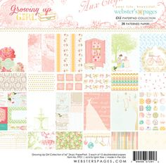 Websters Pages - Growing Up Girl Collection - 6 x 6 Paper Pad at Scrapbook.com