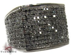 Another addition to our stunning collection of Mens Black Diamond Rings this impressive piece has all the potential to attract anyones attention. Yet another exquisite piece from our Mens Black Diamond Rings! Made with only the finest materials this piece features gorgeous Micro-Pave set stones in a background of lustrous 10k Black Gold. The diamonds are AAA quality and weigh an amazing 1.89 ct complementing the 10.10 grams of pure 10k Black