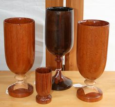 Wood goblets by Anarque wood works